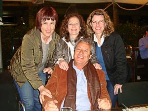 The trio with the Director of the Italian Institute of Culture in Barcelona Dr. Fortunato Ceraso